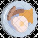 Breakfast Egg Bread Icon