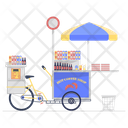 Breakfast Burrito Food Cart Food Stall Icon