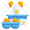 Breaking Egg Crack Bowl Icon