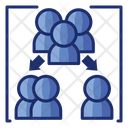 Breakout Room Separate Divided Icon