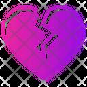 Valentine Day Breakup Heart Icon
