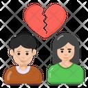 Divorce Breakup Separation Icon