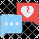 Breakup Message Breakup Chat Breakup Communication Icon