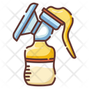 Breast Pump Sucker Milk Bottle Icon
