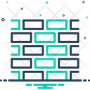 Brick Wall Barrier Icon