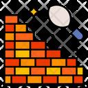Brick Building Construction Icon