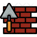 Brick Wall Trowel Icon