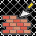 Brickwork Construction Trowel Build Brick Wall Bricklayer Icon