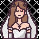 Bride Woman Bride Dress Icon