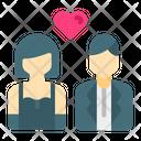 Bride And Groom Couple Wedding Icon