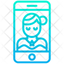 Bried Woman Mobile Icon