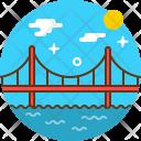 Bridge Building Cityscape Icon