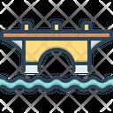 Bridge Viaduct Construction Icon