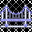 Bridge Suspension Landscape Icon