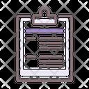 Brief Clipboard Writing Icon