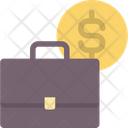 Briefcase And Coin Money Business Icon