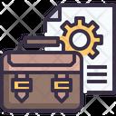 Briefcase Business Portfolio Suitcase Icon