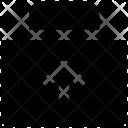 Briefcase Up Arrow Icon