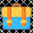 Briefcase School Bag Icon