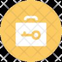 Briefcase Key Sign Icon