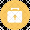 Briefcase Keyhole Security Icon