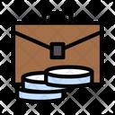 Briefcase Luggage Coins Icon