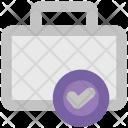 Briefcase Checkmark Suitcase Icon