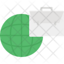Briefcase Global Business Globe Icon