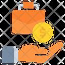 Briefcase Coin Dollar Icon