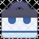 Briefcase Portfolio School Bag Icon