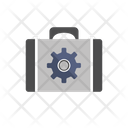 Briefcase And Gear Setting Icon