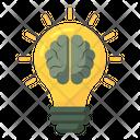 Bright Idea Creative Idea Brain Idea Icon