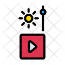 Video Increase Brightness Icon