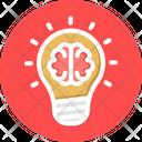 Brilliant Bright Idea Creative Brain Icon