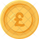 British Pound Coin Coins Currency Icon