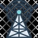 Broadcast Radar Antenna Communication Internet Network Wireless Wave Transmitter Tower Icon