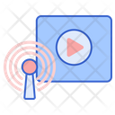 Broadcast Video Broadcasting Player Icon