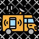 Broadcast Car Distribution Icon