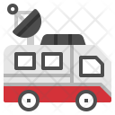 Broadcast Car Van Icon