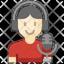 Broadcaster Broadcasting Live Broadcasting Icon