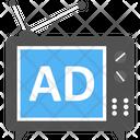 Broadcasting Television Ad Branding Icon