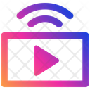 Broadcasting Video Advertisement Antenna Icon