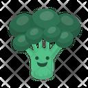 Greens Broccoli Organic Vegetarian Icon