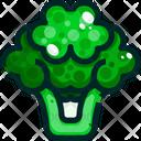 Broccoli Cauliflower Vegetable Icon