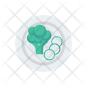 Broccoli Cucumber Vegetable Icon