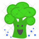 Broccolli Laugh Vegetable Icon