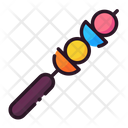 Brochette Food Birthday Party Icon