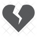 Broken Heart Love Icon
