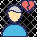 Broken Heart Love Icon