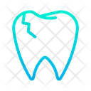 Broken Tooth Dentist Tooth Icon